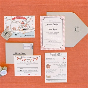 Fun, Beach Wedding Invitation