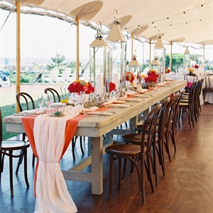 Tented Beach Reception Decor