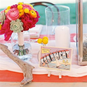 Colorful Beach Reception Decor