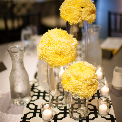 Simple Yellow Bloom Centerpieces