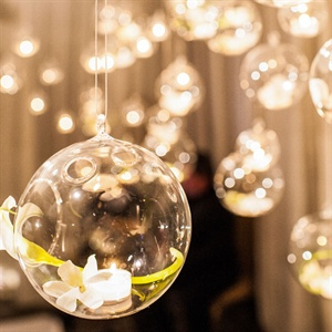 Hanging Glass Bubble Candles