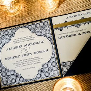 Ornate, Detailed Wedding Invitation