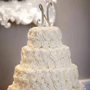 Brushed Gold Intial Cake Topper