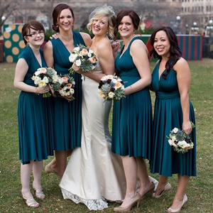 Emerald Twobirds Bridesmaid Dresses