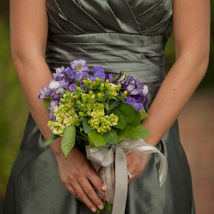 Green and Purple Bridesmaid Bouquet
