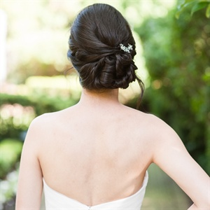 Updo with Crystal Hairpins