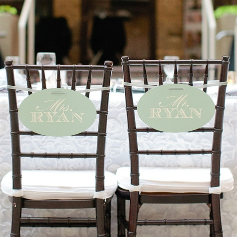 Mr. and Mrs. Chiavari Reception Chairs