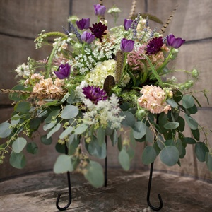 Floral and Feather Ceremony Arrangements