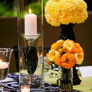 Yellow Ombre Floral Reception Arangements