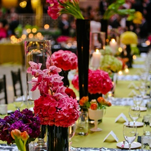 Lush Low and High Floral Centerpieces