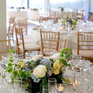 Blue and White Reception Centerpieces