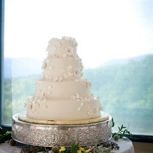 All-White Wedding Cake