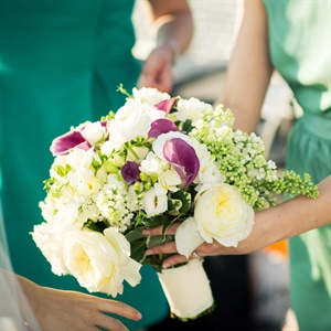 Garden Rose and Calla Lily Bouquet