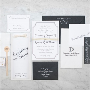 Custom Black and White Invitations