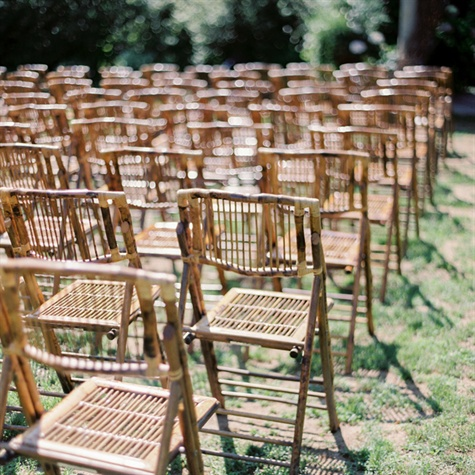 Rustic Wooden Ceremony Chairs