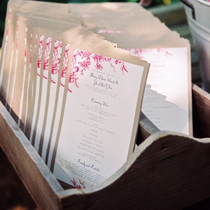 Vintage One-Page Ceremony Programs