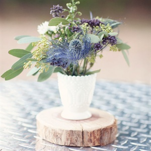 Blue Thistle Centerpiece