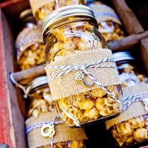 Caramel Popcorn Mason Jar Favors