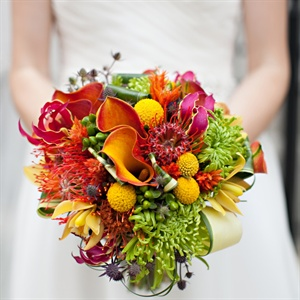 Vibrant Multicolored Bridal Bouquet