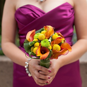 Summery Bright Bridesmaid Bouquets