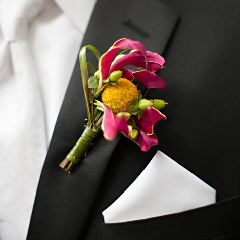 Billy Ball And Lily Boutonniere
