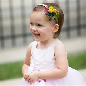 Flower Girl Fresh Blooms and Peacock Headband