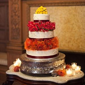 Fresh Floral Adorned Cake