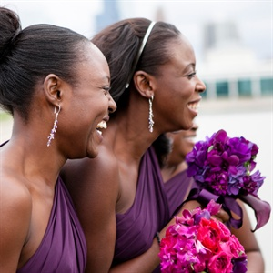 One-Shoulder Purple Bridesmaid Dresses