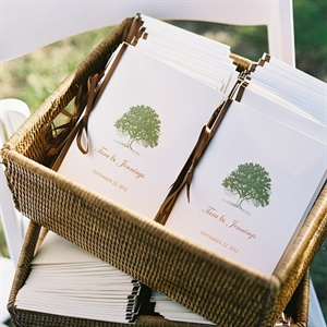 Tree Themed Wedding Programs