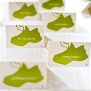 Running Shoe Escort Cards