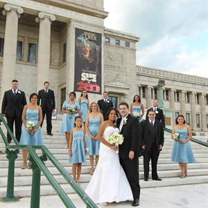 Alfred Angelo Cornflower Blue Bridesmaid Dresses