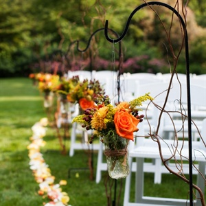 Shepherd Hook Ceremony Decor