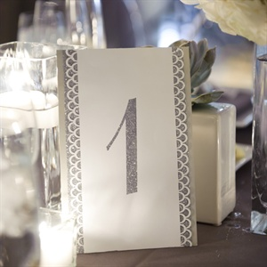 Glitter Glam Table Numbers