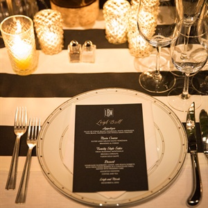 Black and White Menu Cards