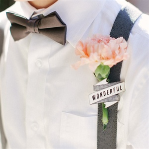 Peach Carnation Boutonniere
