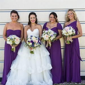 Purple Dessy Bridesmaid Dresses