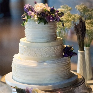 Three-Tier Ruffle and Lace Cake