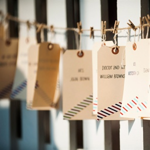 Hanging Manila Escort Card Tags