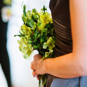 Green Bridesmaids Bouquet