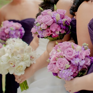 Purple Bridesmaid Bouquets