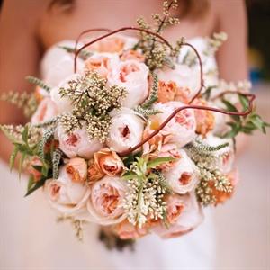 Pink Garden Rose Bridal Bouquet