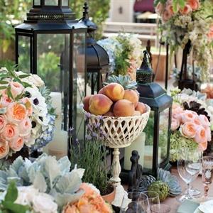 Lush Peach Reception Decor