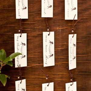 Natural Wooden Escort Card Display