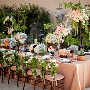 Garden Inspired Outdoor Reception Space