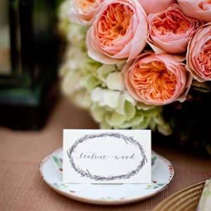 Wreath Themed Place Cards
