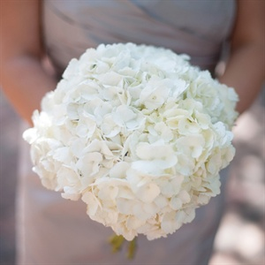 White Hydrangea Bridesmaid Bouquet