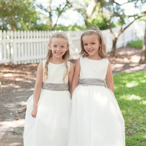 Ivory Organza Flower Girl Dresses