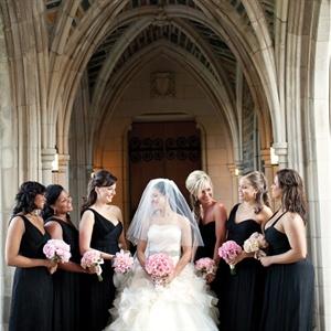 Black Amsale Bridesmaids Dresses
