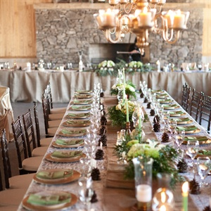 Burlap and Lace Reception Decor