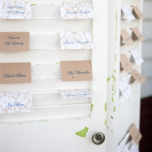 Escort Card Shutter Display